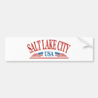 Salt Lake City Pegatina Para Auto