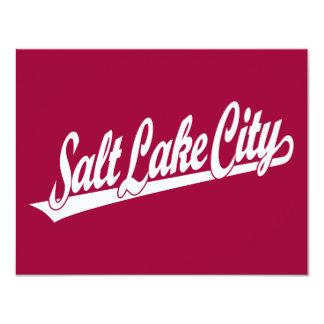 Salt Lake City script logo in white Card