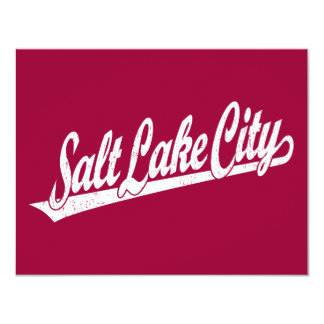Salt Lake City script logo in white distressed Announcements