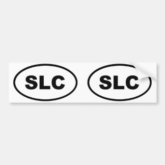Salt Lake City SLC oval Car Bumper Sticker
