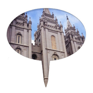 Salt Lake City Temple Cake Topper