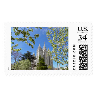 Salt Lake City Temple in Spring Postage stamps.
