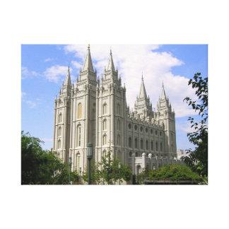Salt Lake City Temple Wrapped Canvas Canvas Print