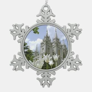 Salt Lake City, templo de LDS Adorno De Peltre En Forma De Copo De Nieve