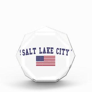 Salt Lake City US Flag Acrylic Award
