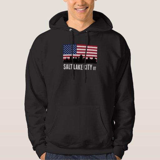 Salt Lake City UT American Flag Hoodie