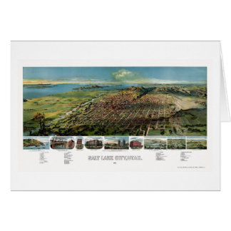 Salt Lake City, UT Panoramic Map - 1891 Card