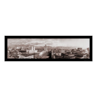 Salt Lake City UT Panoramic Photo 1913 Poster