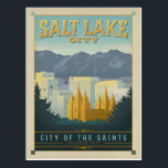 "Salt Lake City, UT Postcard<br><div class=""desc"">Anderson Design Group is an award-winning illustration and design firm in Nashville,  Tennessee. Founder Joel Anderson directs a team of talented artists to create original poster art that looks like classic vintage advertising prints from the 1920s to the 1960s.</div>"