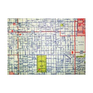 Salt Lake City, UT Vintage Map Print Canvas Print