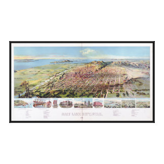 Salt Lake City, Utah (1891) Canvas Print