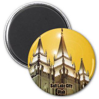 Salt Lake City, Utah 2 Inch Round Magnet