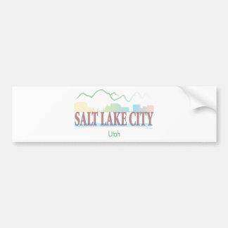 Salt Lake City, Utah Etiqueta De Parachoque