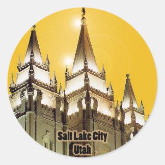 Salt Lake City, Utah Classic Round Sticker