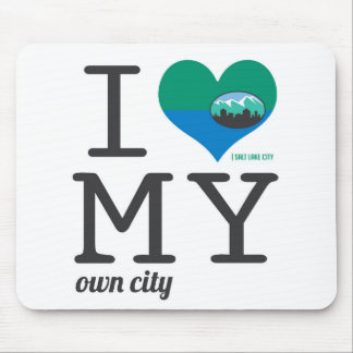 Salt Lake City Utah I love my own city Mouse Pad