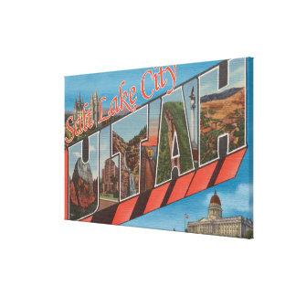 Salt Lake City, Utah - Large Letter Scenes 2 Canvas Print
