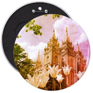 Salt Lake City, Utah Mormon Temple Button