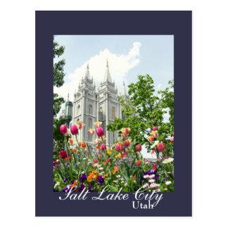 Salt Lake City, Utah Mormon Temple Postcard
