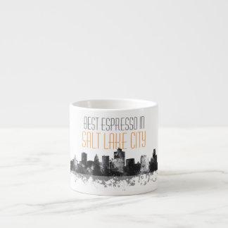 SALT LAKE CITY, UTAH SKYLINE - Espresso mug