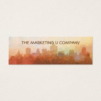 Salt Lake City, Utah Skyline IN CLOUDS Mini Business Card