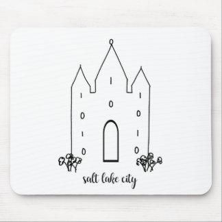 salt lake city utah temple simple modern mouse pad
