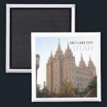 """Salt Lake City Utah Travel Souvenir Fridge Magnet<br><div class=""""desc"""">Fridge magnet pictures Salt Lake City,  Utah.</div>"""
