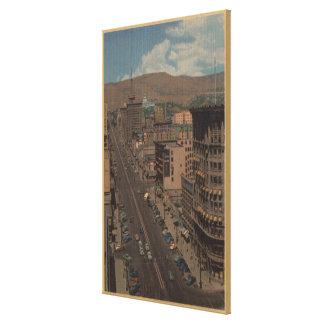 Salt Lake City, Utah - View of Main St. Canvas Print