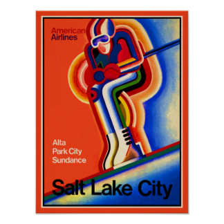Salt Lake City - Vintage Travel Poster