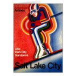 Salt Lake City Vintage Travel Poster Card