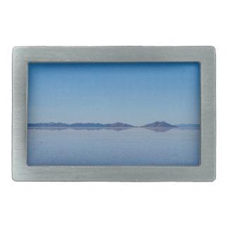 Salt Lake en Salar de Uyuni, Bolivia Hebillas De Cinturón Rectangulares