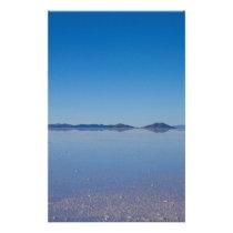 Salt Lake in Salar de Uyuni, Bolivia Stationery