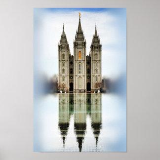 Salt Lake LDS Temple Poster