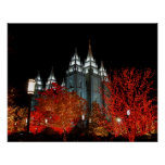 Salt Lake LDS Temple Salt Lake City Utah Poster