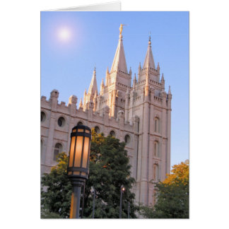 Salt Lake Mormon Temple Card