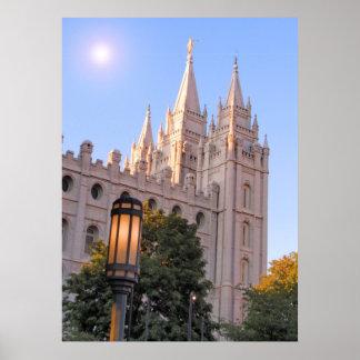 Salt Lake Mormon Temple Poster