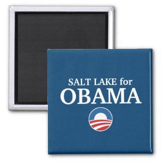 SALT LAKE para el personalizado de Obama su ciudad Iman De Nevera