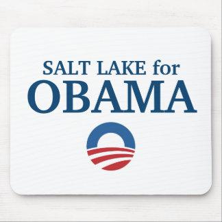 SALT LAKE para el personalizado de Obama su ciudad Alfombrilla De Ratón