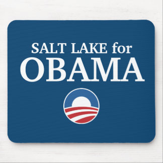 SALT LAKE para el personalizado de Obama su ciudad Alfombrillas De Raton