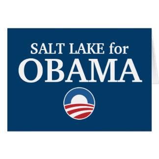 SALT LAKE para el personalizado de Obama su ciudad Felicitaciones