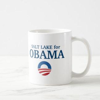 SALT LAKE para el personalizado de Obama su ciudad Tazas