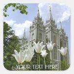 Salt Lake Sity, templo de LDS Pegatina Cuadrada
