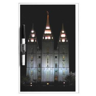 Salt Lake Temple At Night Dry-Erase Boards