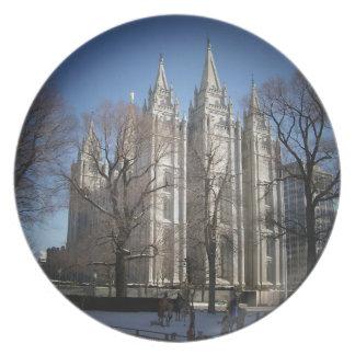 Salt Lake Temple Melamine Plate