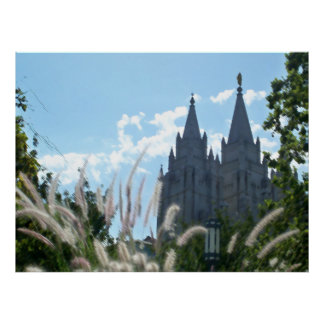 Salt Lake Temple (painted) Poster