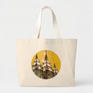 Salt Lake Temple, Utah Jumbo Tote Bag