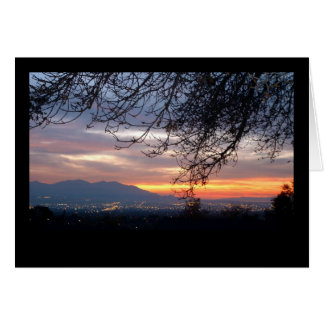 Salt Lake Valley Sunset Card