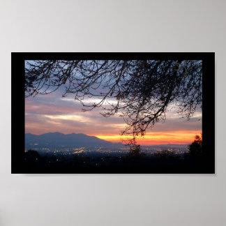 Salt Lake Valley Sunset Poster