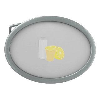 Salt, lemon and tequila belt buckle