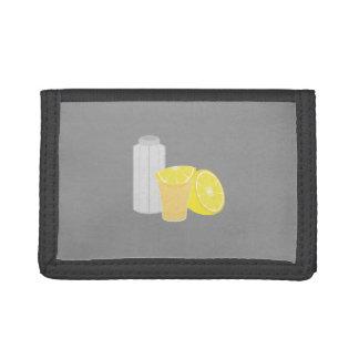 Salt, lemon and tequila trifold wallet