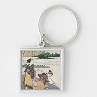 Salt Maidens on the Tago-no-ura Beach Keychain